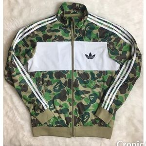 cf5779d5e3182 Adidas Jackets & Coats | Bape X Authentic Firebird Jacket Xl | Poshmark